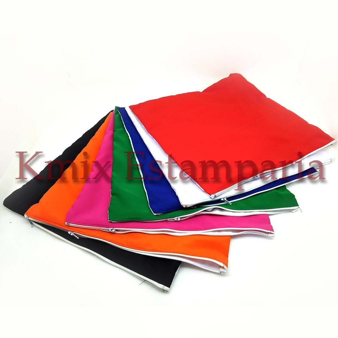 Capas 40x40 cm para sublimação com ziper (pedido minimo 10 p - kmix estamparia