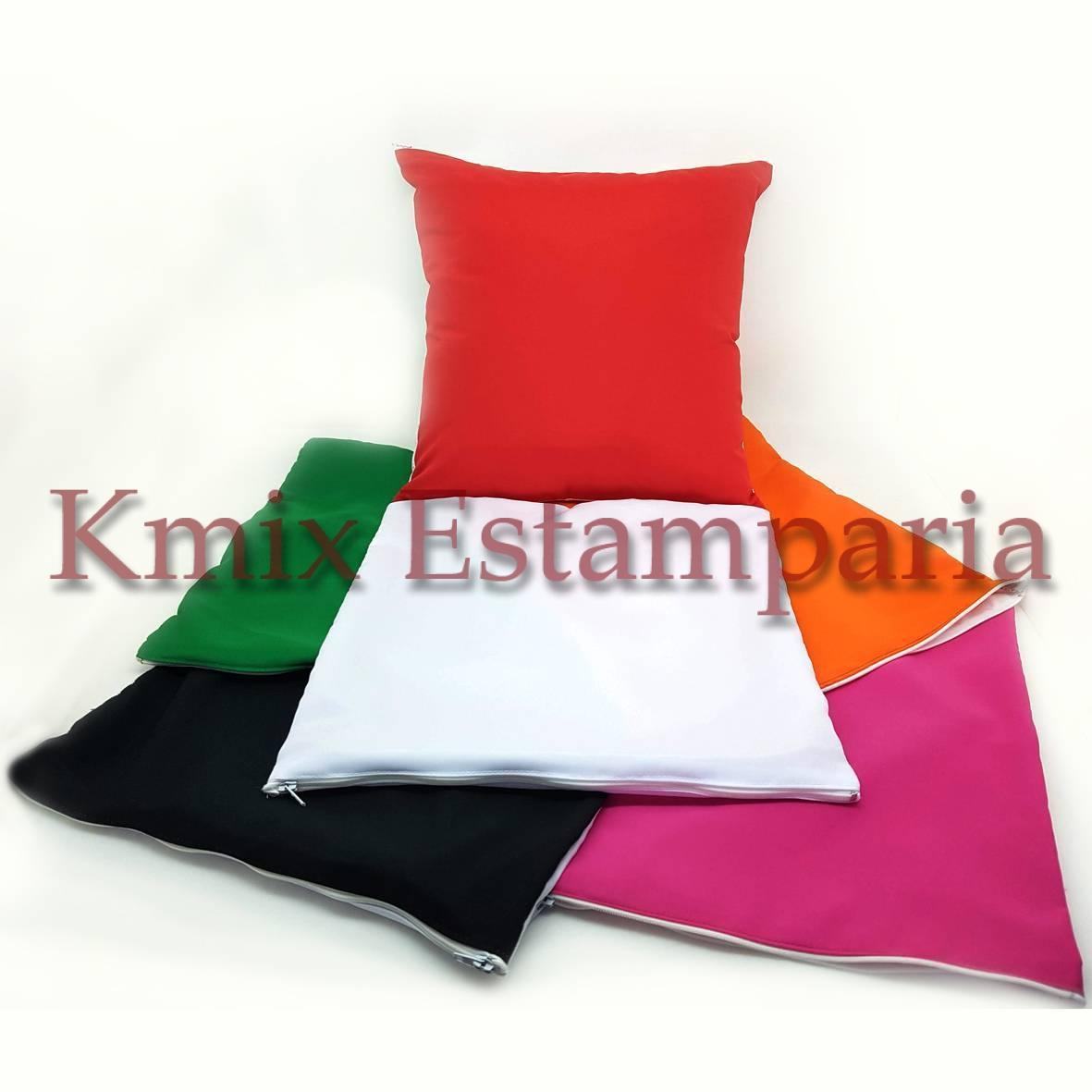 Capas 45x45 cm para sublimação com ziper (pedido minimo 10 p - kmix estamparia