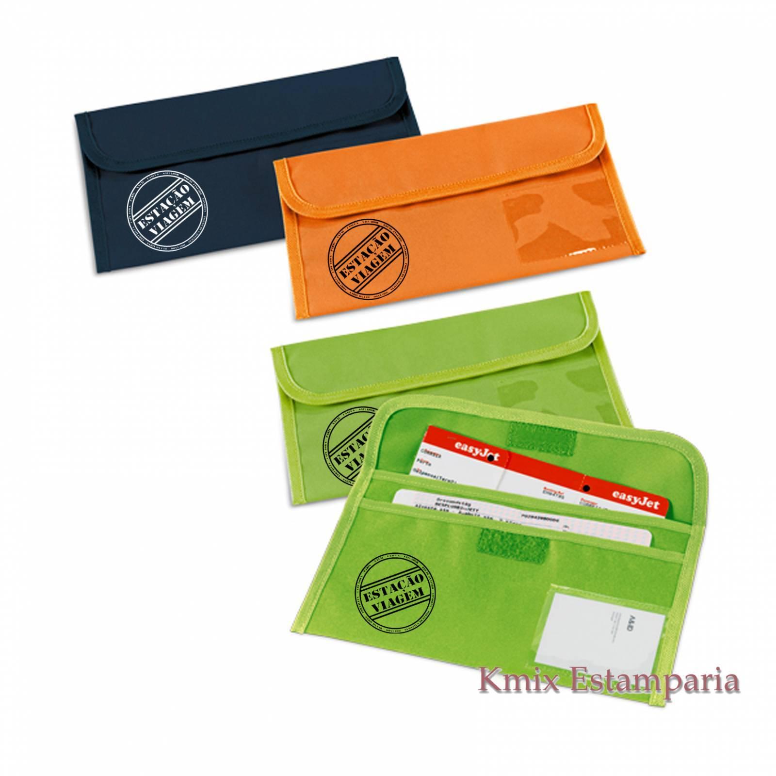 Bolsa porta documentos de viagem 27,5 x 14 cm (92132) - kmix estamparia