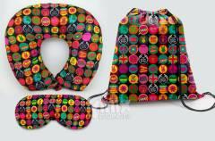 Kit Almofada de pescoço, máscara de dormir e sacola 37x41 cm | kmix estamparia