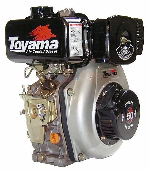 MOTOR DIESEL 4,7HP TOYAMA C/ Eixo de Redução - TD50FS - Pesca e Campo