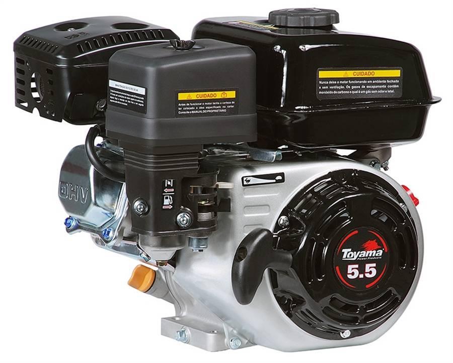 MOTOR GASOLINA 5,5HP TOYAMA COM EIXO MULTIUSO - TF55F1 - Pesca e Campo