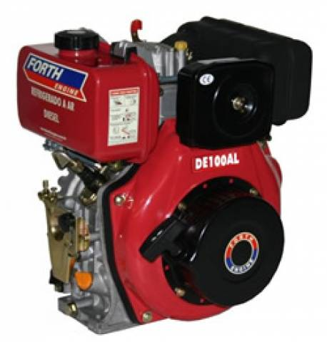 MOTOR DIESEL 10HP FORTH ENGINE PARTIDA MANUAL - DE100AL - Pesca e Campo