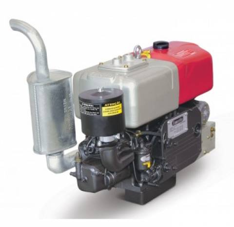 Motor Diesel Tramontini TR18S 16,5HP Sifão Partida Elétrica - Pesca e Campo