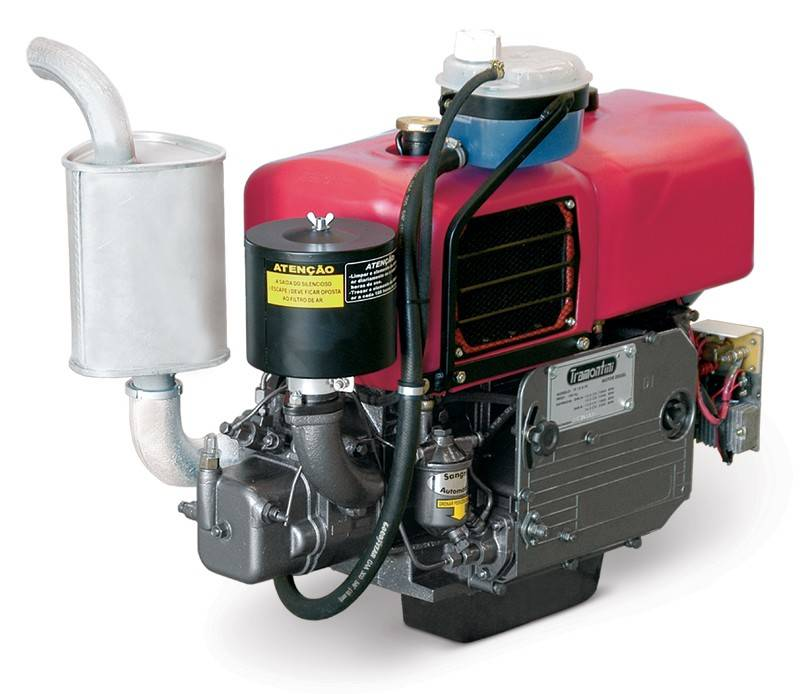 Motor Diesel Tramontini TR30R 25HP Radiador Partida Manual - Pesca e Campo