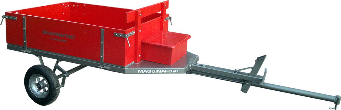 Carreta Simples 1300 R-8 Maquina Fort Para Motocultivadores - Pesca e Campo