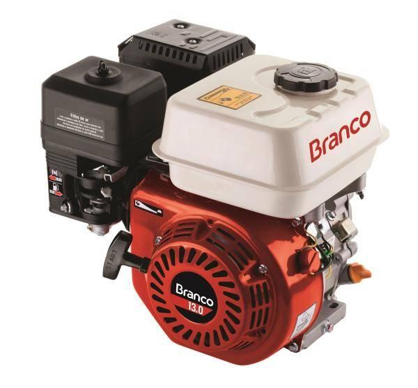 Motor Gasolina Branco B4T-13.0H Partida Elétrica - Pesca e Campo