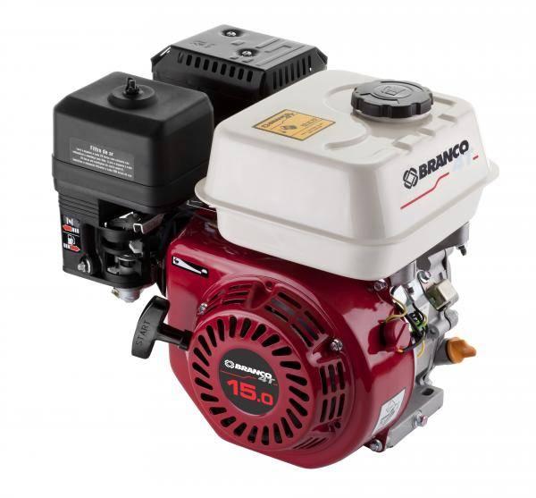 Motor Gasolina Branco B4T-15.0H Partida Elétrica - Pesca e Campo