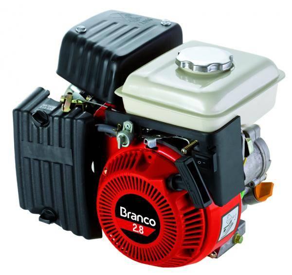 Motor Gasolina Branco B4T-2.8H Partida Manual - Pesca e Campo