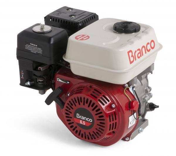 Motor Gasolina Branco B4T-6.5H Partida Manual - Pesca e Campo