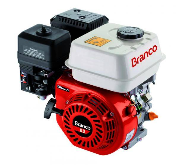 Motor Gasolina Branco B4T-8.0H Partida Manual - Pesca e Campo