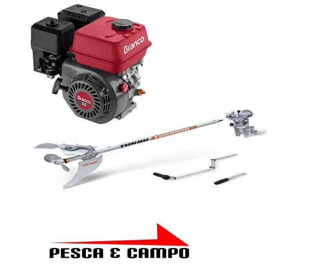 Rabeta Longa Turbo Tornado Motor branco 5,5 hp 1,70m - Pesca e Campo