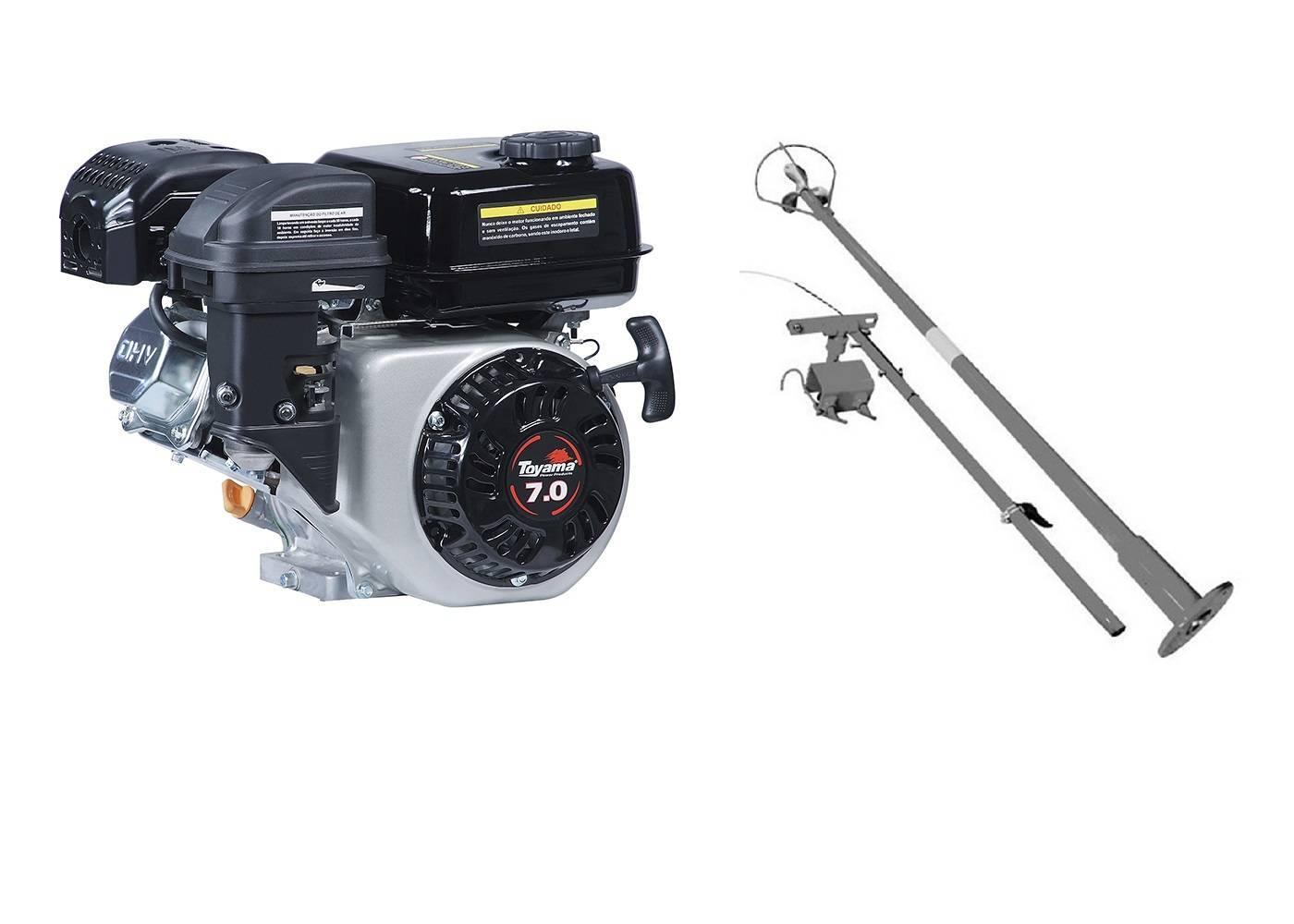 Motor Gasolina Toyama 7 hp rabeta original 1,7m - Pesca e Campo