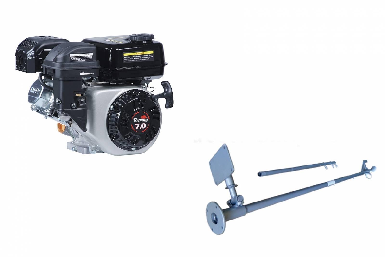 Motor Gasolina 7 hp Rabeta Simples 1,7m - Pesca e Campo
