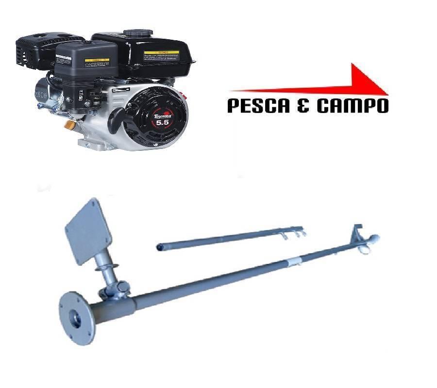 Motor Gasolina Toyama 5.5 hp com rabeta simples 2,2m - Pesca e Campo