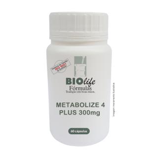METABOLIZE 4 AGORA É PLUS! 300mg com 60 cápsulas | BioLife