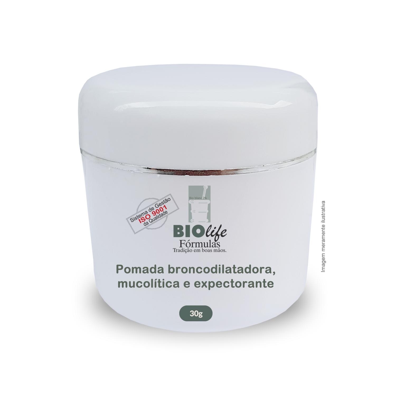 Pomada Broncodilatadora, Mucolítica, Expectorante e Antisséptica - BioLife