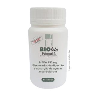INSEA 250mg com 60 caps- Bloqueador da digestão e absorção de açúcar e carboidrato! | BioLife