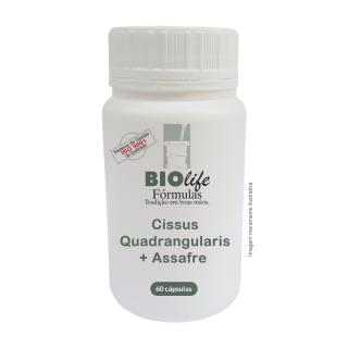 Cissus Quadrangularis 150mg + Assafre 150mg com 60 caps | BioLife