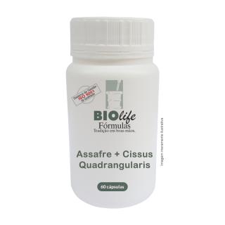 Assafre 50mg + Cissus Quadrangularis 150mg com 60 caps | BioLife