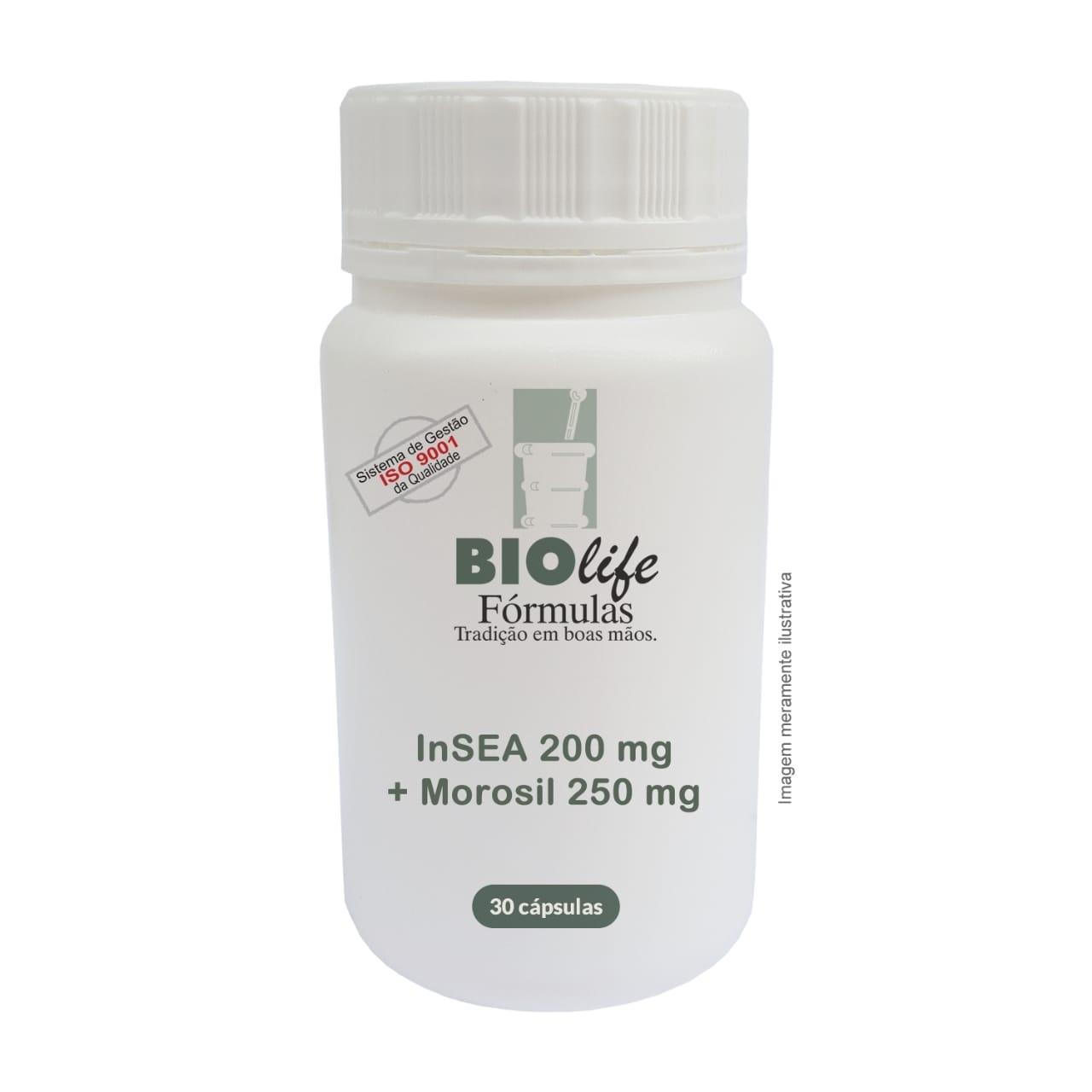 InSEA 200mg + MOROSIL 250mg com 30 cápsulas