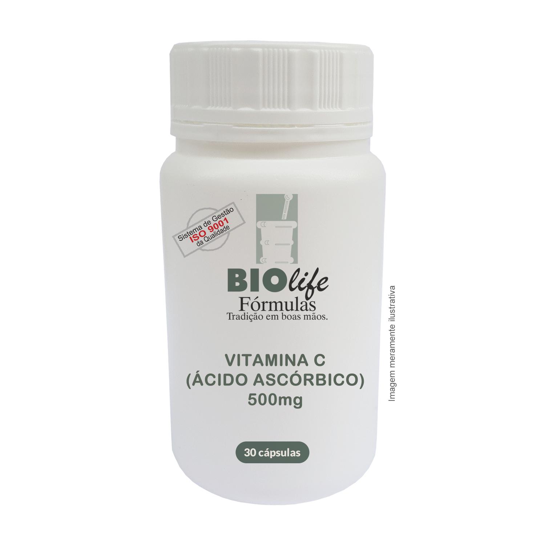 VITAMINA C ( ÁCIDO ASCÓRBICO ) 500mg com 30 cápsulas - BioLife