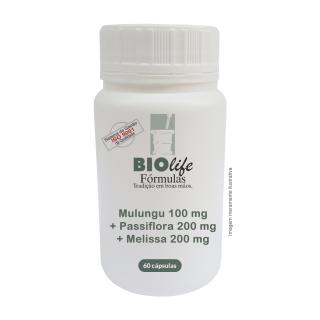 Mulungu 100 mg + Passiflora 200 mg + Melissa 200 mg com 60 cápsulas | BioLife