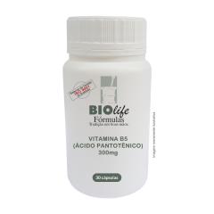 VITAMINA B5 (ÁCIDO PANTOTÊNICO ) D-PANTOTENATO DE CÁLCIO - 300mg com 30 cápsulas