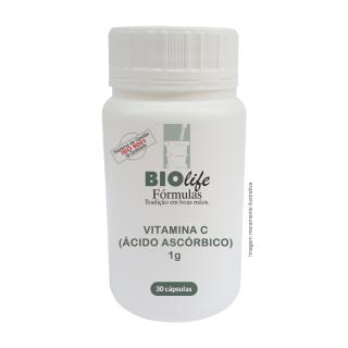 VITAMINA C ( ÁCIDO ASCÓRBICO ) 1g com 30 cápsulas | BioLife