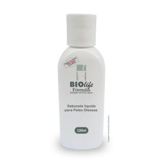 Sabonete líquido para Peles Oleosas com Extrato Glicólico de Chá Verde 5% + Zetesol ZN 10% com 120mL | BioLife