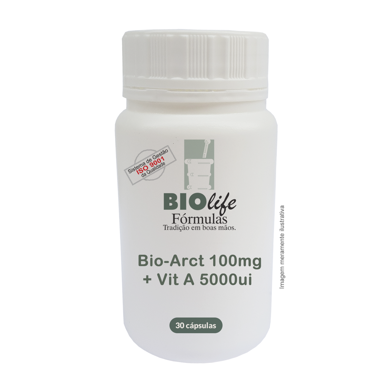 Bio-Arct 100mg + Vit A 5000ui com 30 caps