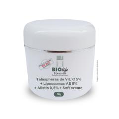 Talaspheras de Vit. C 5% + Lipossomas AE 5% + Alistin 0,5% + Soft creme qsp 30g