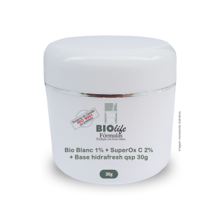 Bio Blanc 1% + SuperOx C 2% + Base hidrafresh qsp 30g | BioLife