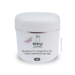 Bio Blanc 1% + SuperOx C 2% + Base hidrafresh qsp 30g