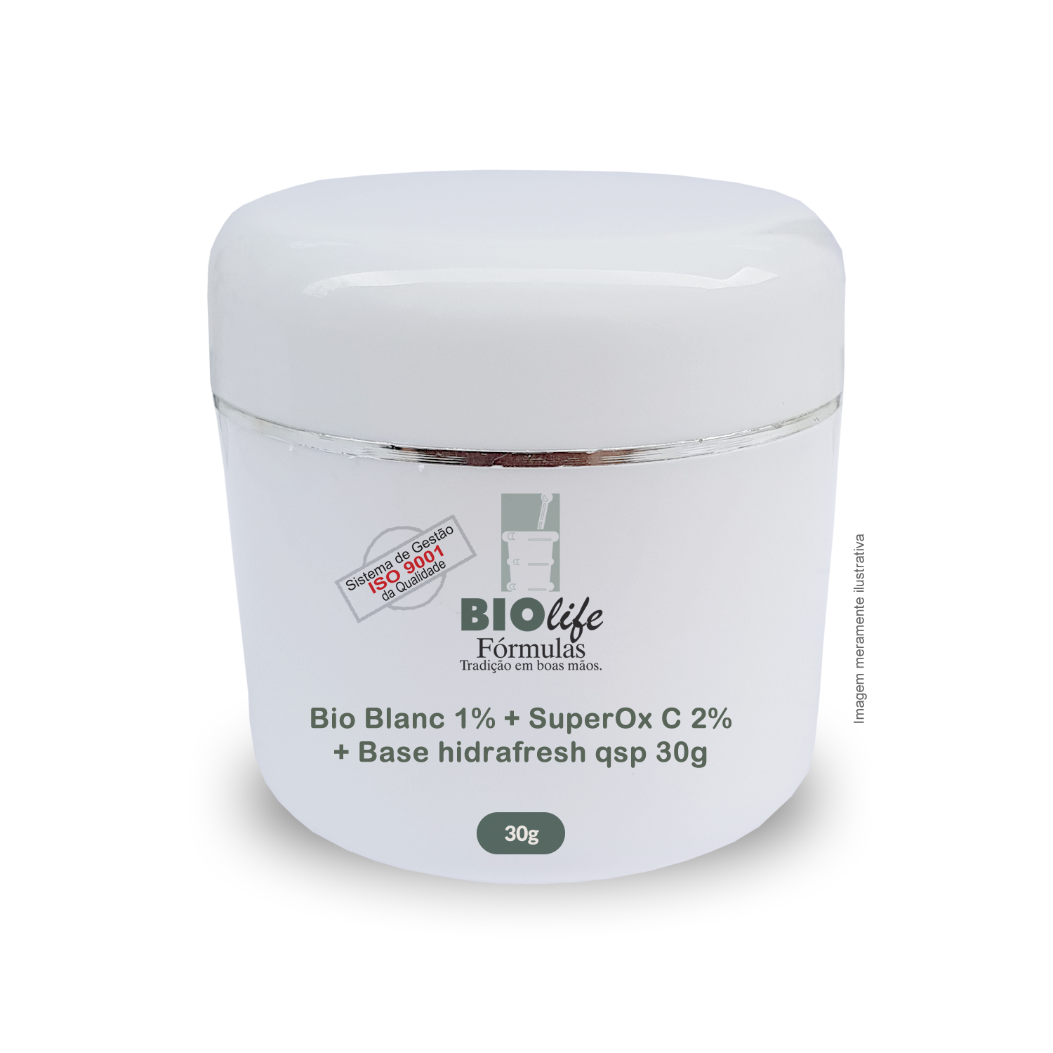 Bio Blanc 1% + SuperOx C 2% + Base hidrafresh qsp 30g
