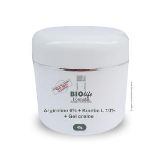 Rejuvenescedor - Rosto e Pescoço. Argireline 6% + Kinetin L 10% + Gel creme qsp 40g | BioLife