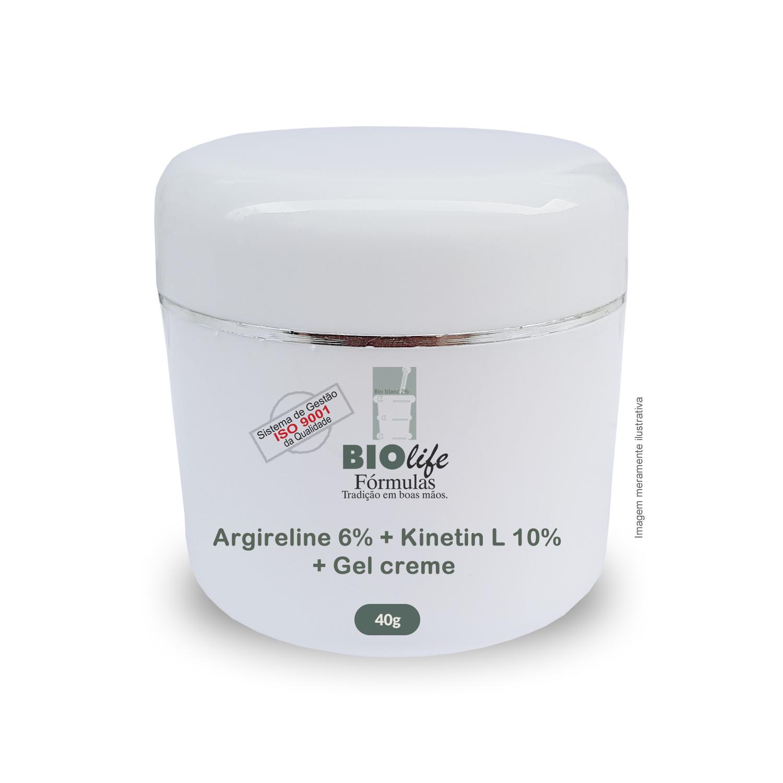 Rejuvenescedor - Rosto e Pescoço. Argireline 6% + Kinetin L 10% + Gel creme qsp 40g