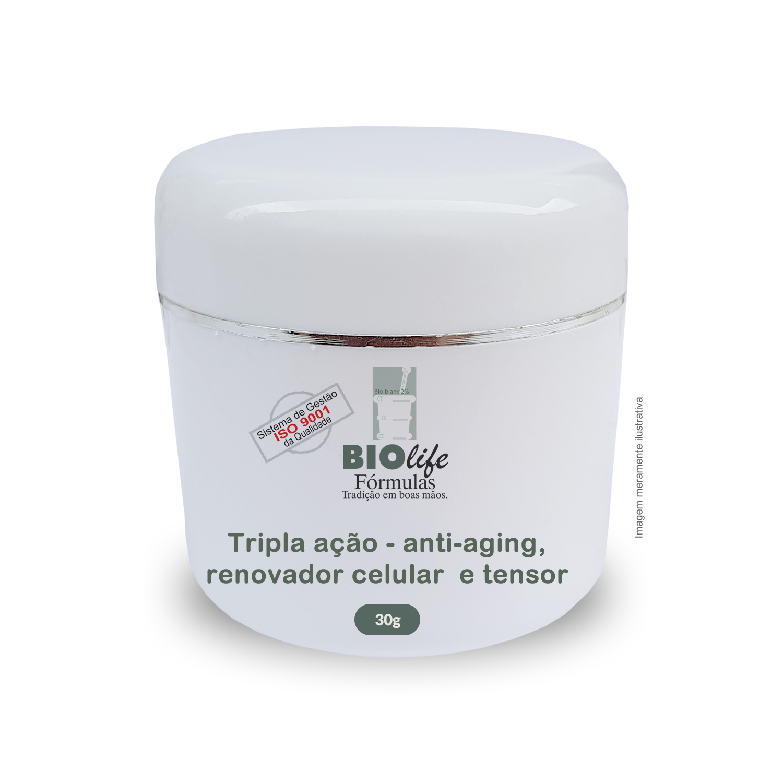 Creme Hidratante Anti-aging com Elastocel e Tensine