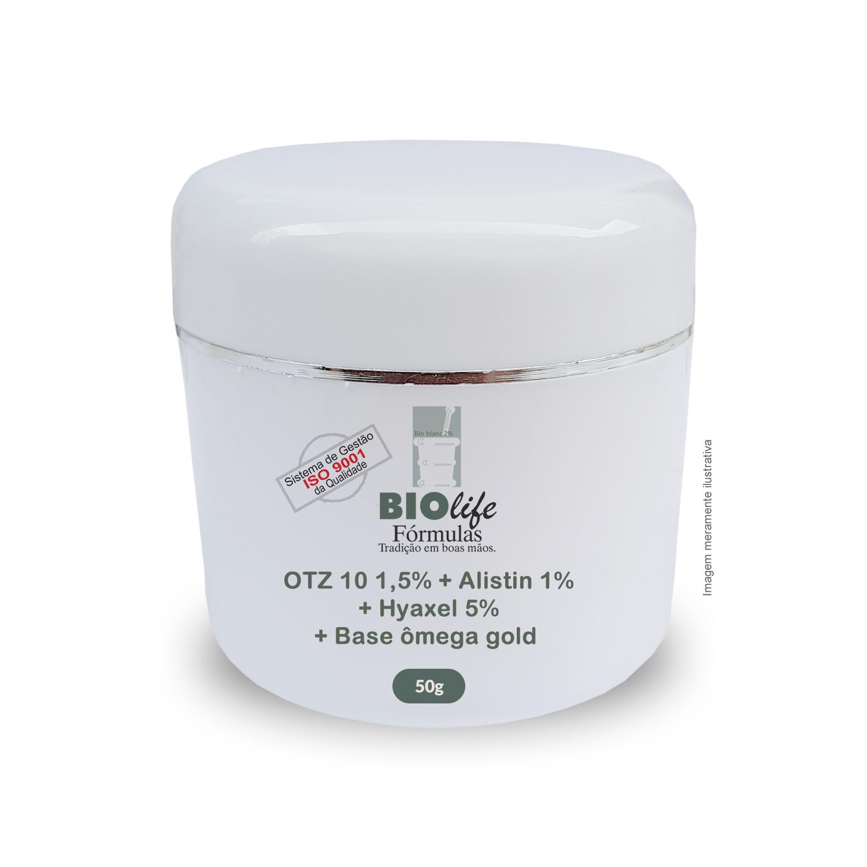 OTZ 10 1,5% + Alistin 1% + Hyaxel 5% + Base ômega gold qsp 50g