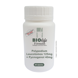 Polypodium Leucotomos 125mg + Pycnogenol 40mg com 60 caps | BioLife