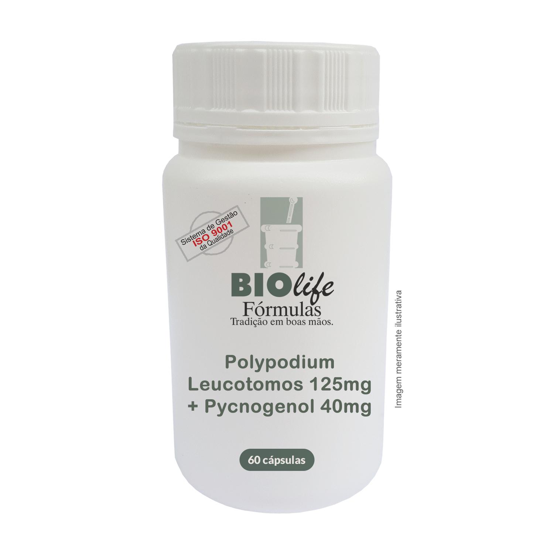 Polypodium Leucotomos 125mg + Pycnogenol 40mg com 60 caps