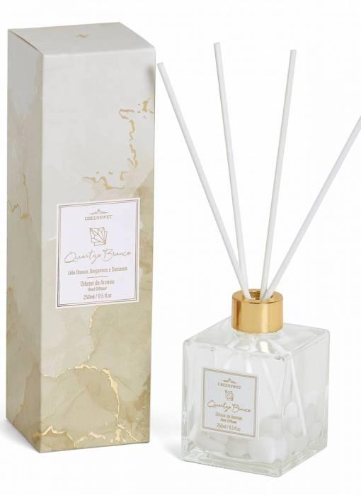 Difusor de Aromas 250 ml Quartzo Branco