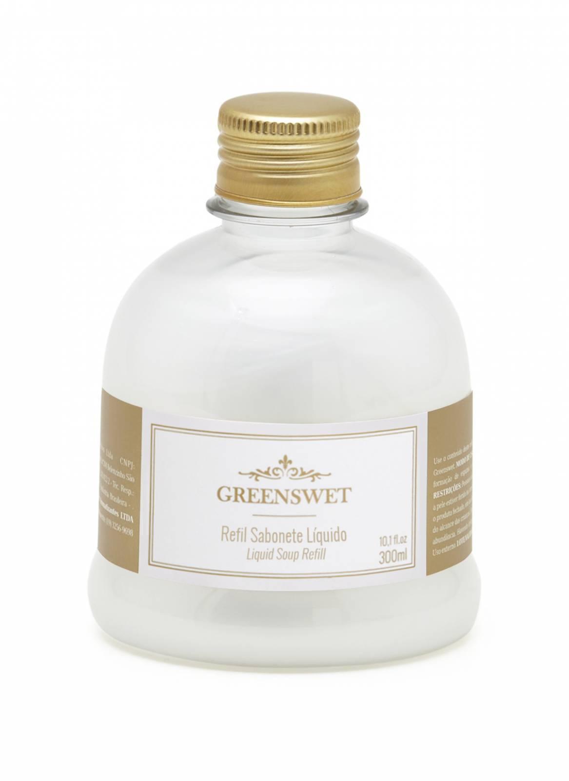 Refil Sabonete Liquido 300 ml Essência Chá Branco - Greenswet Aromatizantes