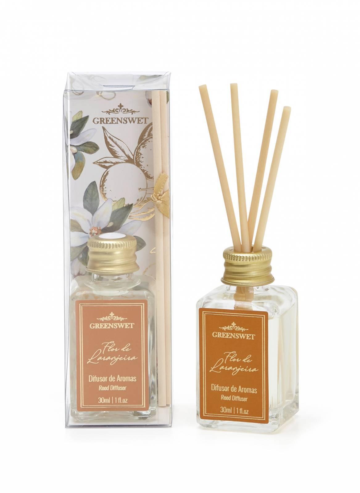 Difusor de Aromas 30ml Essência Flor de Laranjeira - Greenswet Aromatizantes