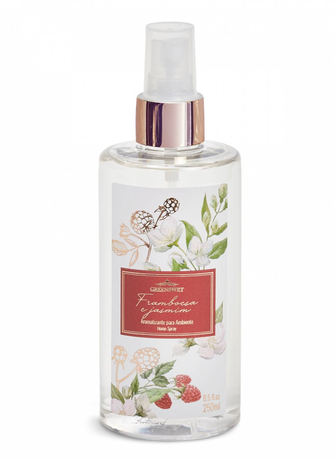 Home Spray 250ml Essência Framboesa e Jasmim - Greenswet Aromatizantes