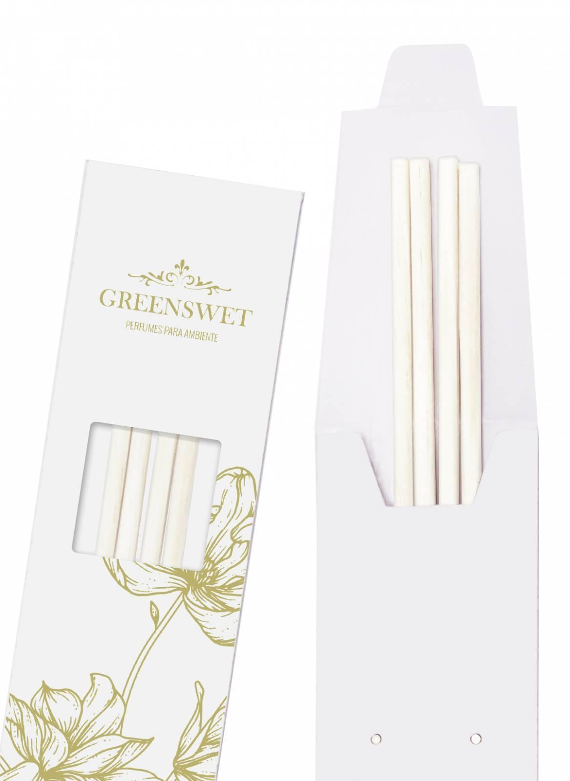Varetas para Difusor de Aromas - Branca Médias - Greenswet Aromatizantes