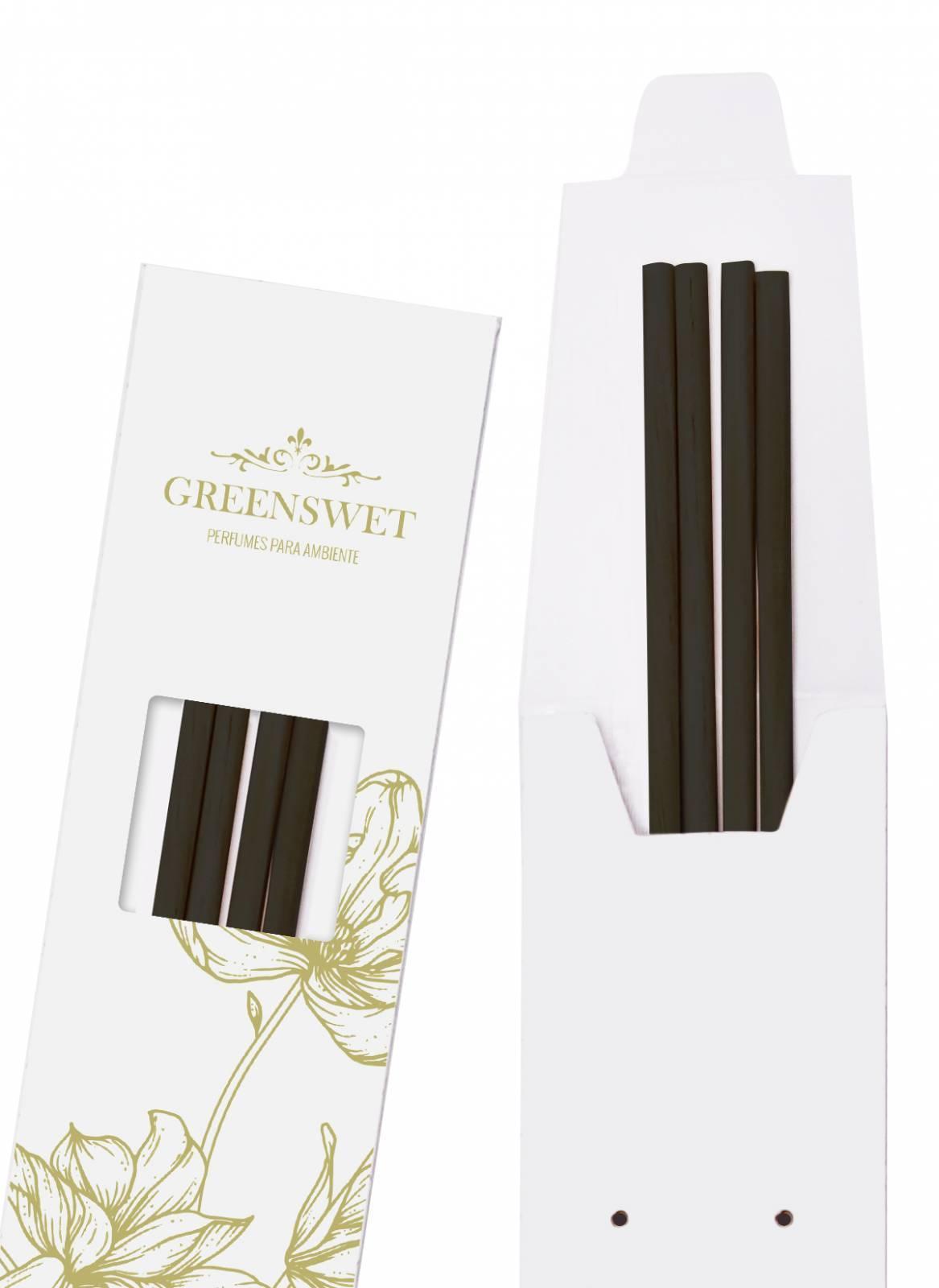 Varetas para Difusor de Aromas - Preta Médias - Greenswet Aromatizantes