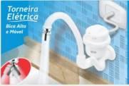 torneira elétrica bica alta e móvel branca 5400w 220v fame | Santa Rosa Tintas