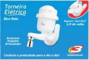 torneira elétrica bica reta e móvel branca 5400w 220v fame | Santa Rosa Tintas