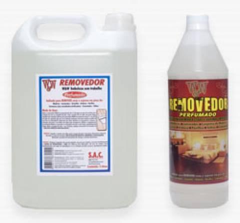 removedor perfumado para remover ceras e sujeiras em piso 1 litro w&w